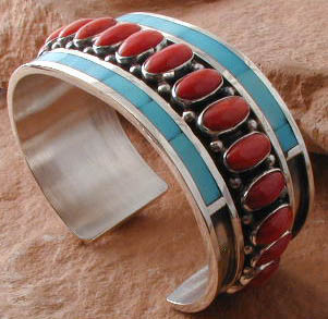 Classic and Contempary Coral and Turquoise Made to order