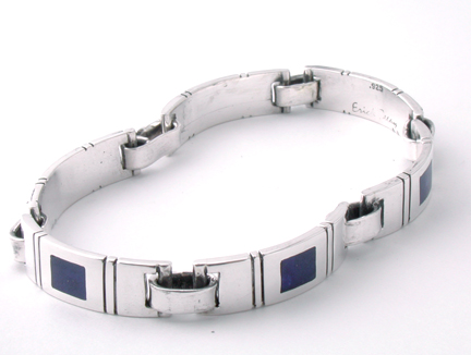 Men's Lapis Link Bracelet B19