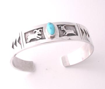 Turquoise Bighorn Sheep Bracelet