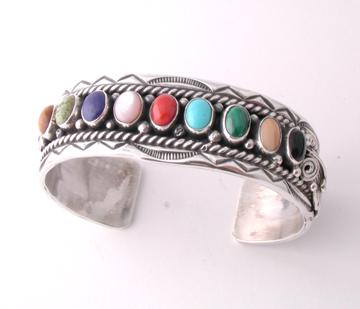 Nine stone Multi-stone Bracelet