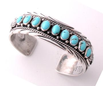 Nine Stone Turquoise Bracelet