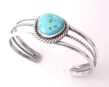 One Stone Turquoise Bracelet