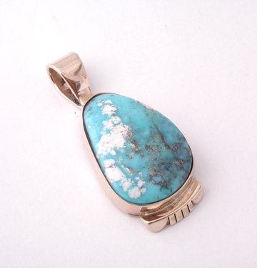 White Matrix Turquoise in Gold SOLD