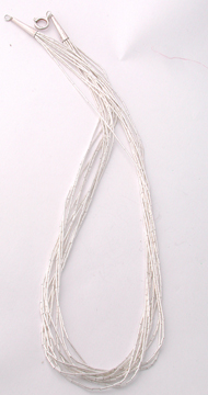 16 Inch x 10 strand Liquid Silver Necklace