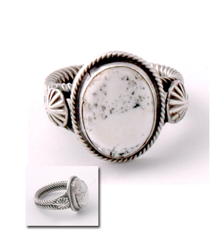 White Buffalo Ring Old Style