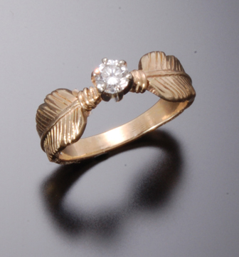 .25 CT DIAMOND EAGLE FEATHER RING